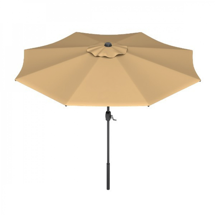 Tan 9' Market Umbrella