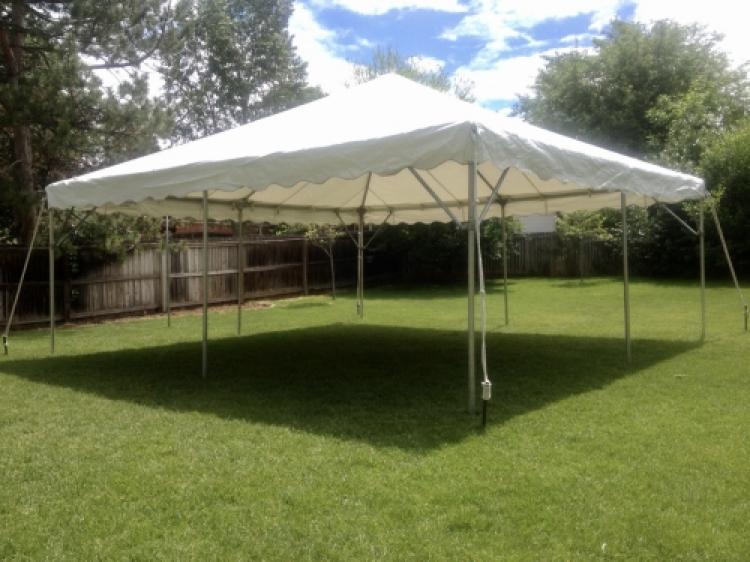 20'x20' White Frame Tent (no sidewalls) Seats 32-40