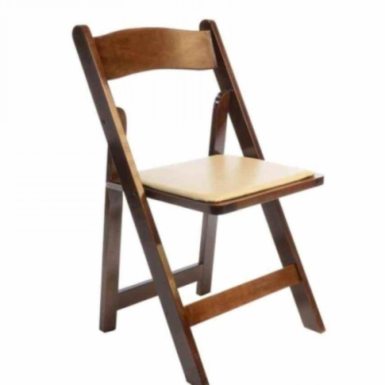 Wood Fruitwood Padded Folding Chair
