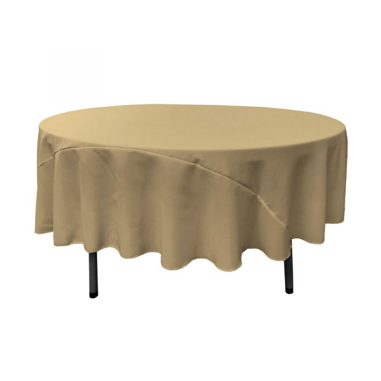 Taupe 120 Round Linen