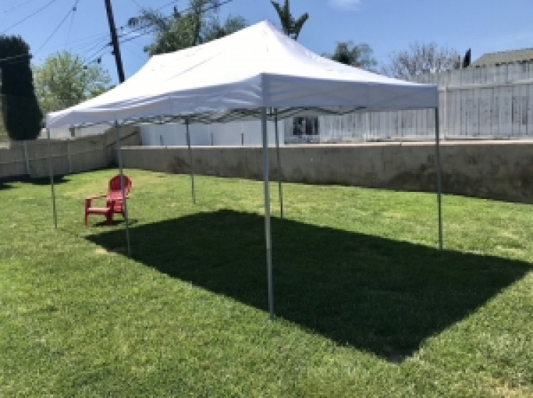 10'x20'  White Pop Up Canopy