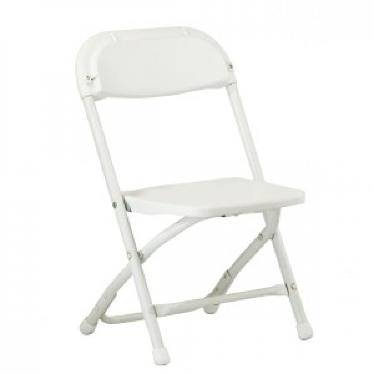 Children's White Poly Folding Chair