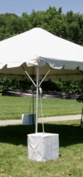 Frame tent weights
