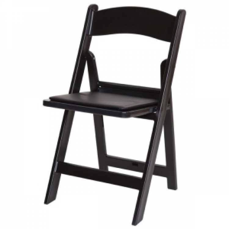 Black Padded folding Resin Chair