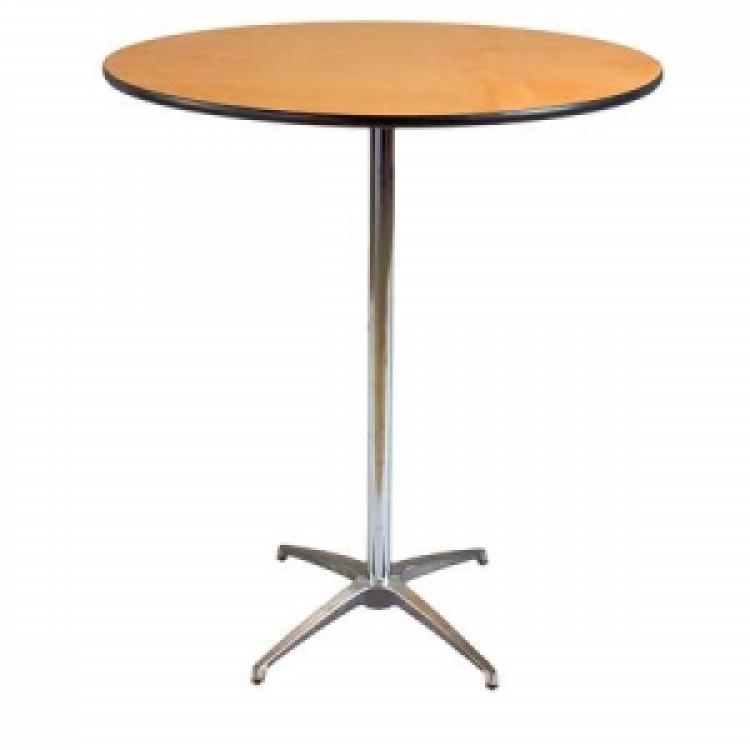 36 Round Cocktail Pedestal Table