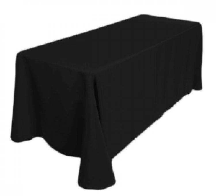 Black 90'x132 Banquet Linen